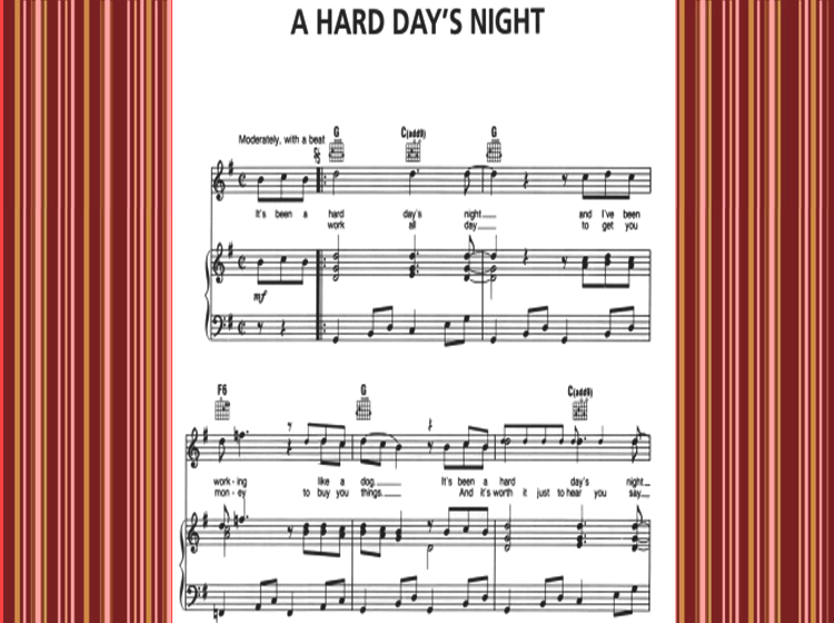 A Hard Day's Night Piano Music