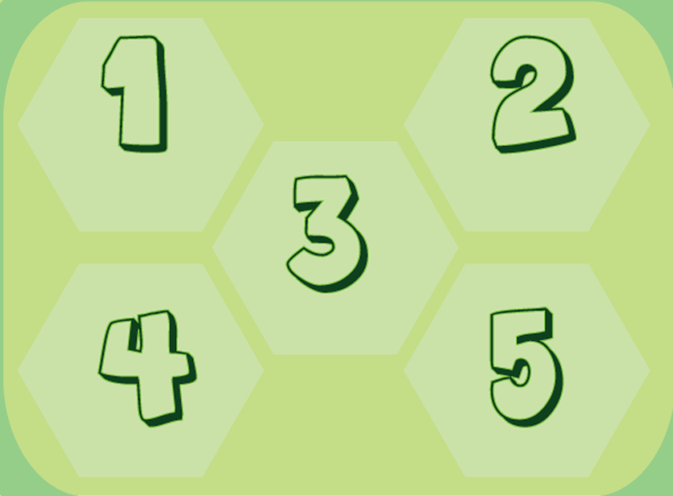Green Preschool Printable Number Lesson