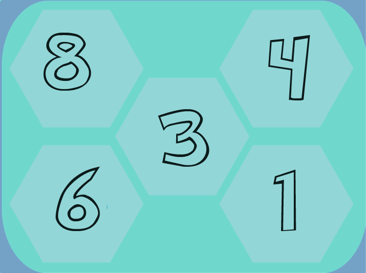 Blue Preschool Printable Number Lesson
