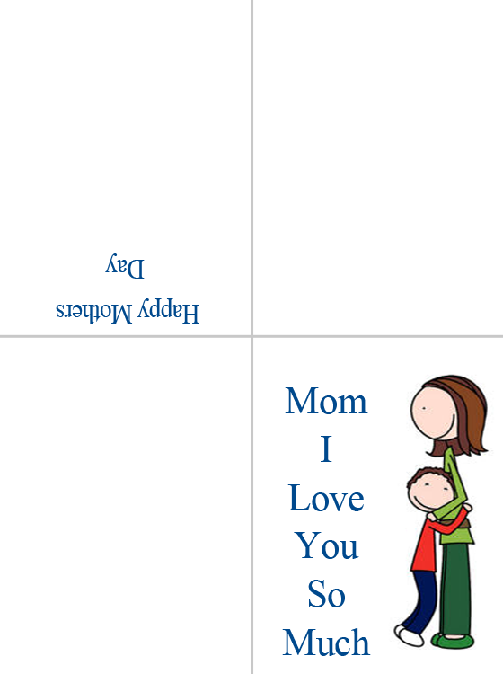 Printable I Love You Mom Cards