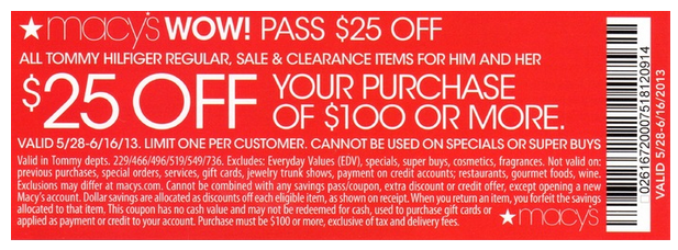 Printable Macy's Coupon