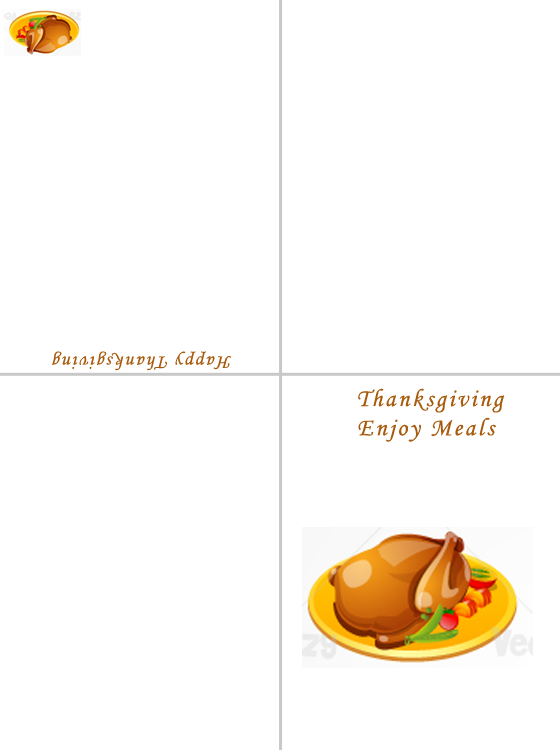 Printable Thanksgiving Enjoy Your Meal Cards