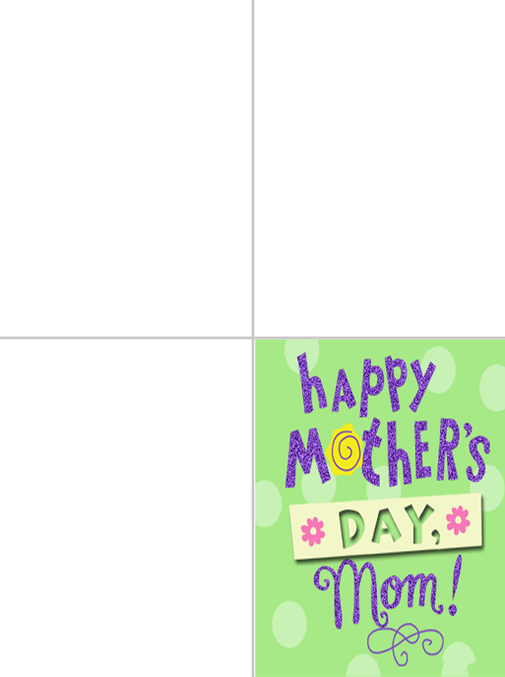 Printable Happy Mother's Day, Mom Cards