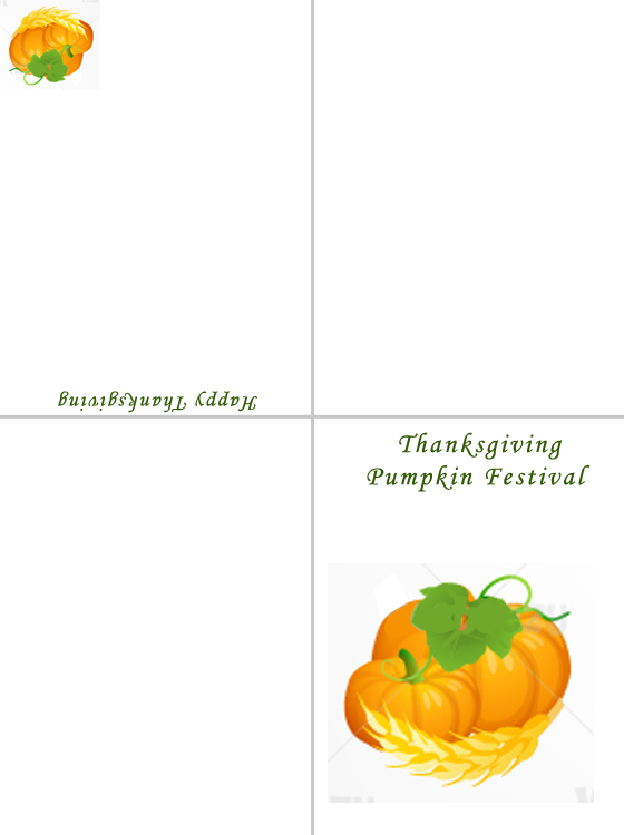 Printable Celebration of the Pumpkin Cards