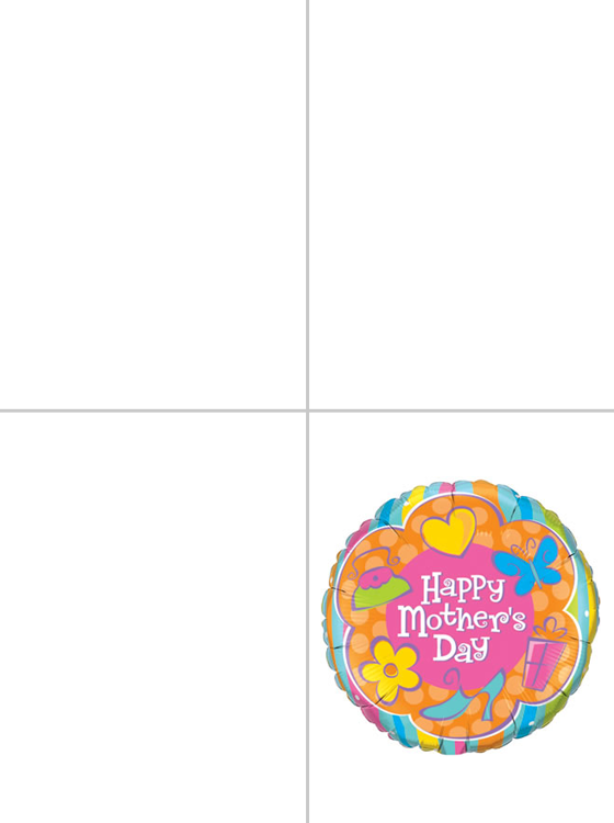 Printable Mother's Day Balloon Cards
