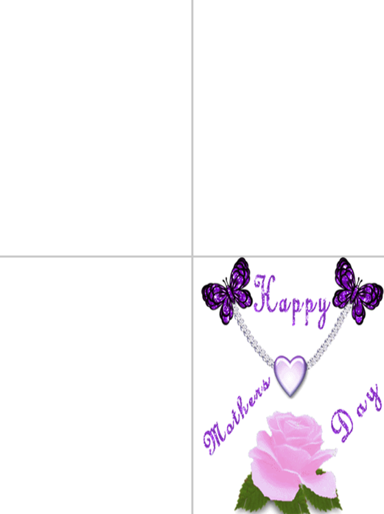 Printable Happy Mother's Day Heart Cards