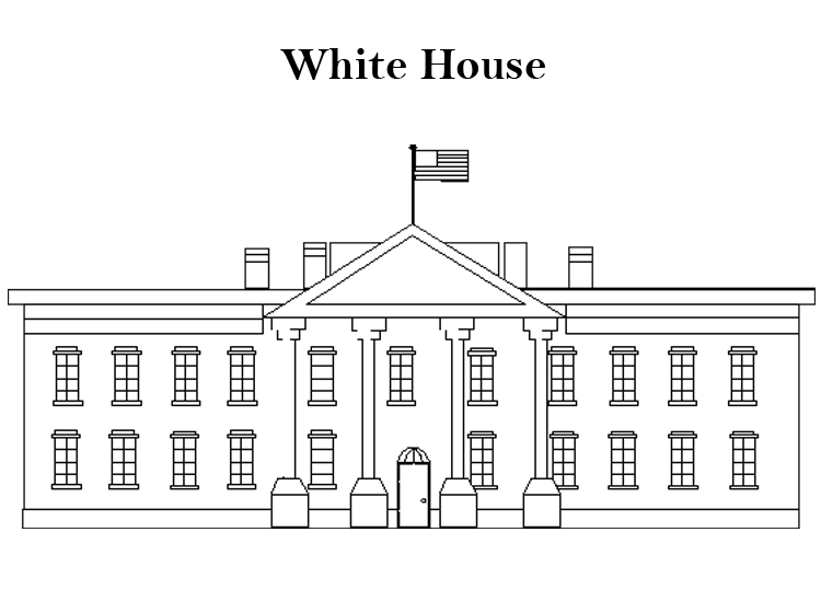 Printable White House Coloring Sheet