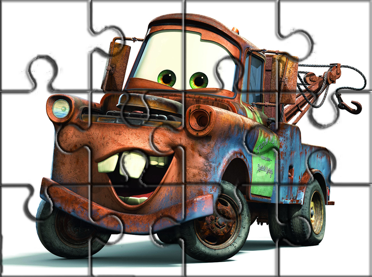Printable Rusty Cars Puzzles