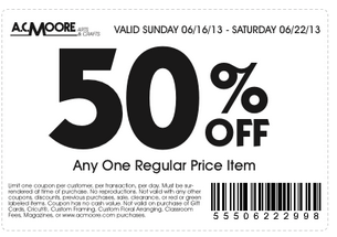 Printable AC Moore Discount Coupons