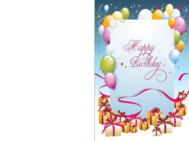 Printable Happy Birthday Clown Cards