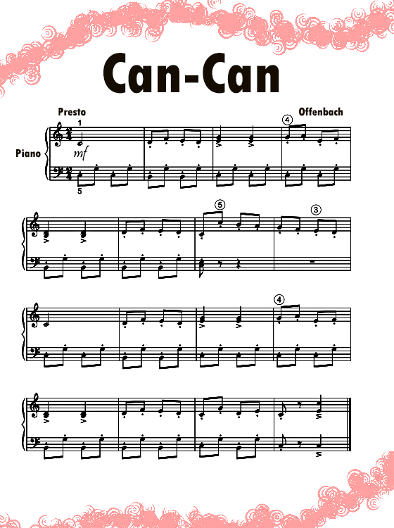Can-Can Piano Music