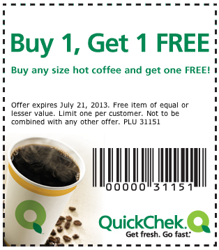 Printable Quick Check Coupons
