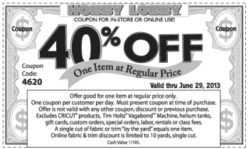 Printable Hobby Lobby Coupons
