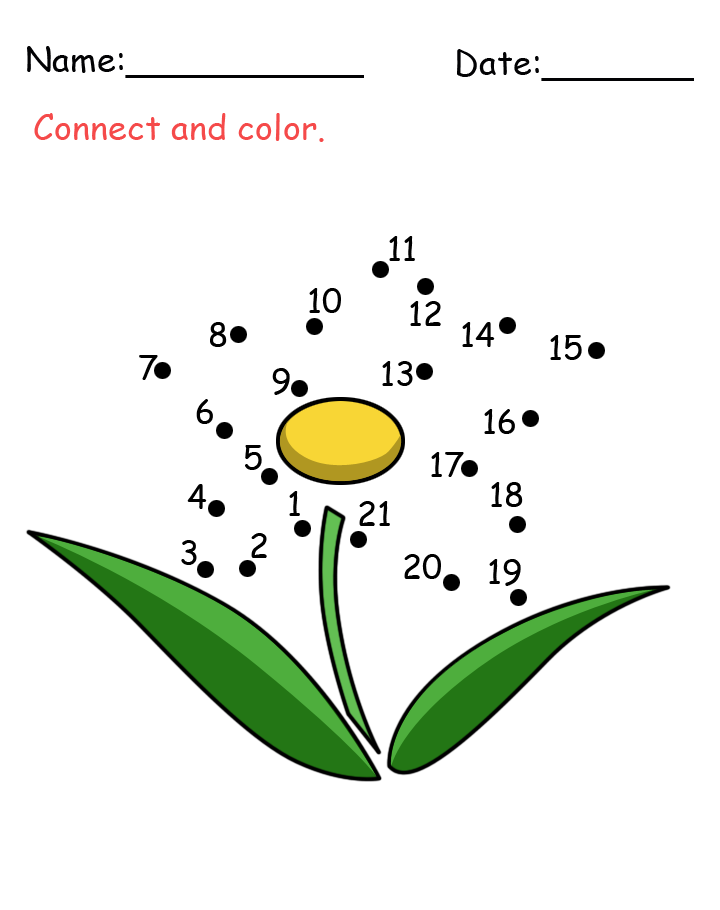 Flower Connect The Dots Activity