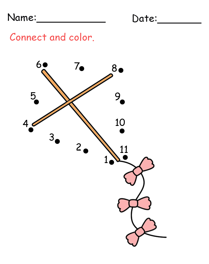 Kite Connect The Dots Activity