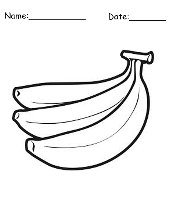 Printable Banana Bunch Coloring Pages