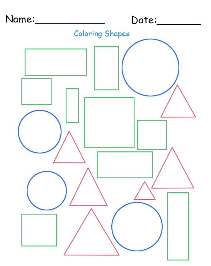 Free Printable Different Shapes Worksheet