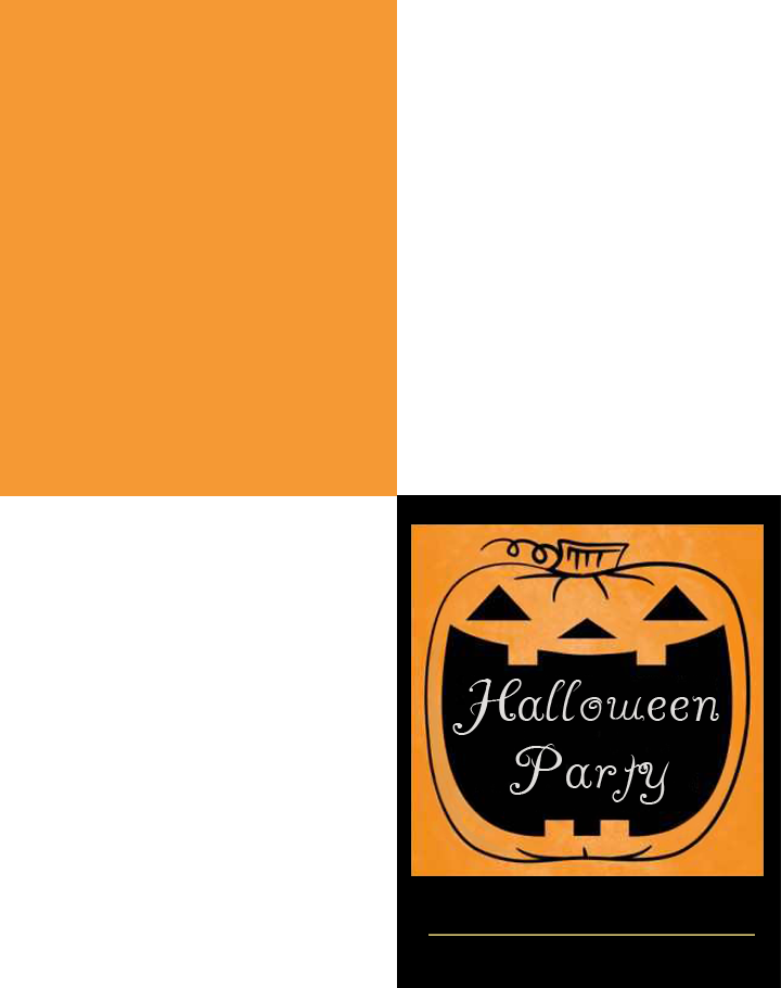 Halloween Pumpkin Printable Party Invitations