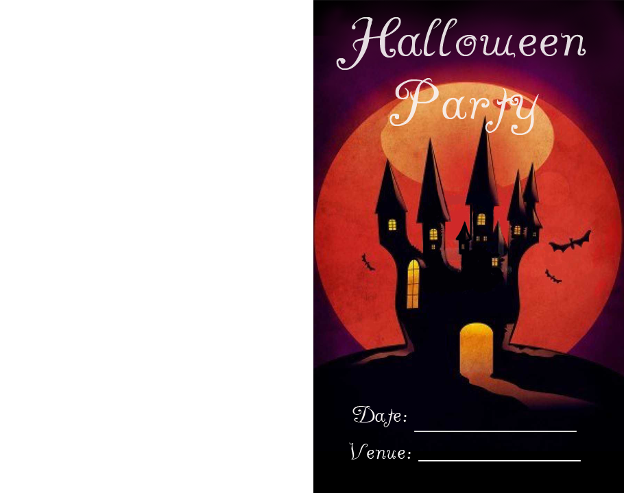 Spooky House Halloween Party Printable Invitations