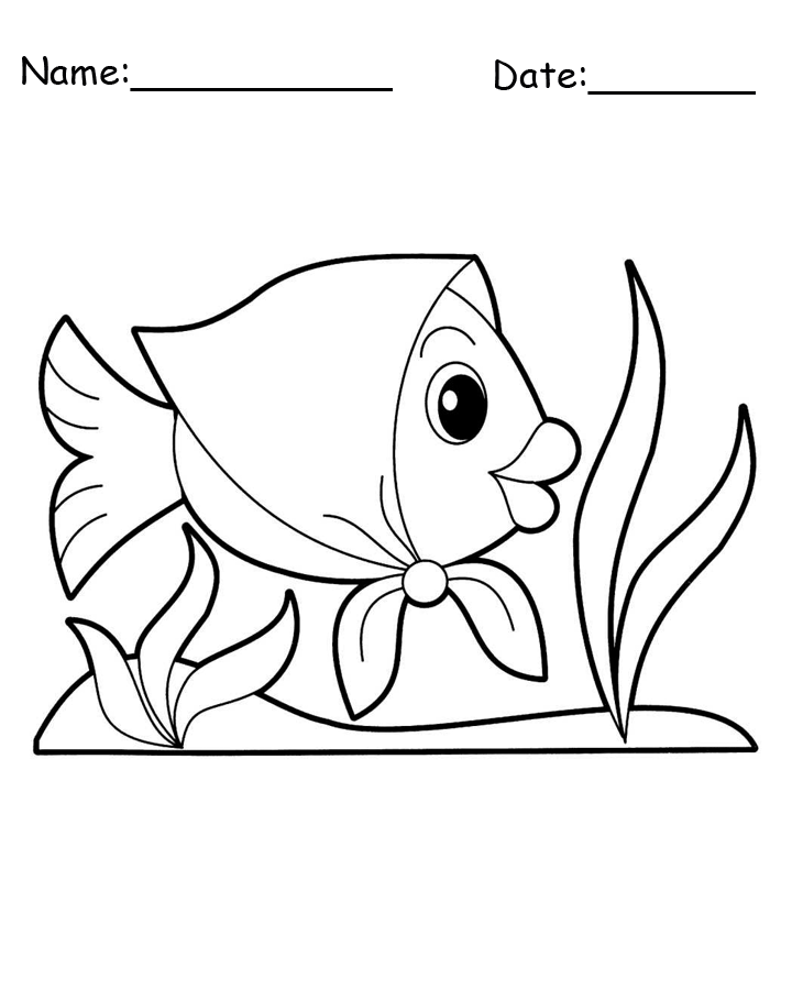 Fish with Bonnet Animal Printable Coloring Pages