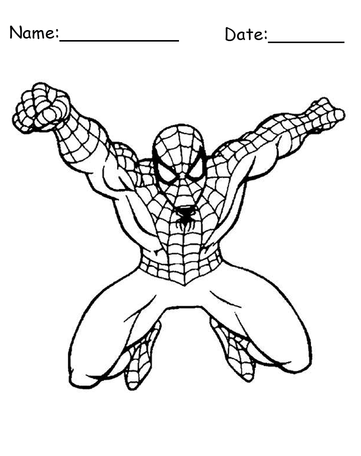 Spiderman Midswing Printable Coloring Pages