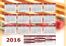 Printable 2016 Calendar with Pencils