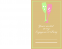 Champagne Flute Engagement Party Printable Invitations