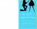 Classy Blue Engagement Party Printable Invitations