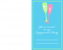 Fizzy Fun Engagement Party Printable Invitations