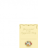 Flower Basket Engagement Party Printable Invitations