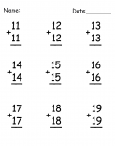Math Addition Worksheet