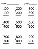 Numbers Addition Worksheet