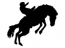 Horse Jumping Stencil