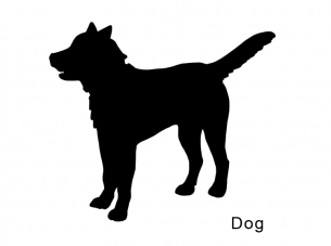 photo relating to Printable Dog Stencils called Printable Canine Stencils