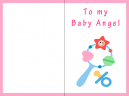Baby Angel Baby Cards