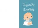 Congrats For Sweet Baby Cards