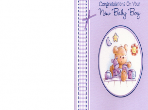 Congratulations on You New Baby Boy Card