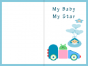 My Baby Star Baby Cards