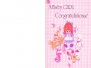 Printable Congratulations Pink Baby Cards