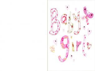picture regarding Printable Baby Cards titled Printable Sched Boy or girl Woman Playing cards