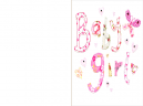 Printable Stitched Baby Girl Cards