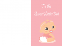 Sweet Little Girl Baby Cards