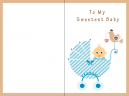 Sweetest Baby Printable Baby Cards