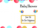 Join Us Baby Shower Printable Invitations