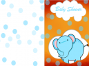 Printable Baby Elephant Shower Invitations