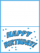 Colorful Printable Birthday Cards