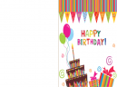 Printable Bunting happy Birthday Card