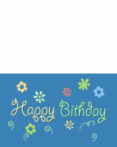 Printable Floral Happy Birthday Cards