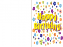 Printable Flowers Happy Birthday Cards