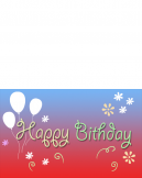 Printable Happy Birthday Balloon Cards